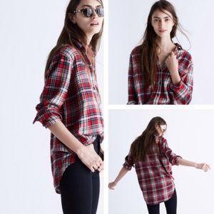 Madewell Classic Ex-Boyfriend Flannel Shirt Small